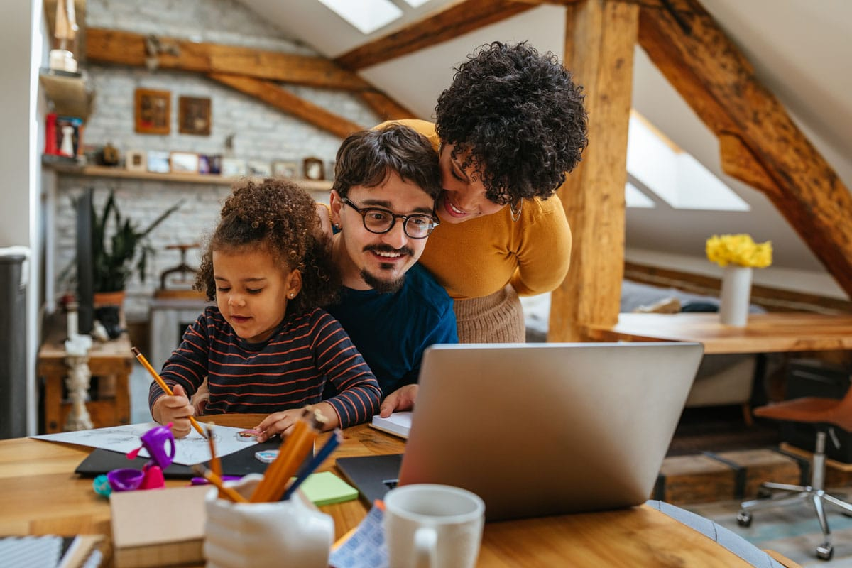 family bonding 1 - How Every Mom Can Help a Child to Improve Writing Skills